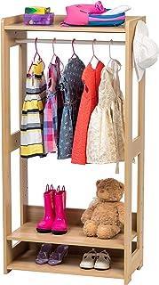 Iris Ohyama Kids Garment Rack KWR-1 Portant/Penderie à vêtements/Porte-manteaux pour enfants multifonctionnel avec étagère...