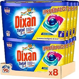 Dixan Detergente en Cápsulas para Lavadora Trio Caps Universal - Pack de 8x12D, Total 96 Lavados