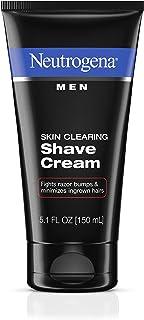 Neutrogena Men Skin Clearing Shave Cream, Oil-Free Shaving Cream to Help Prevent Razor Bumps & Ingrown Hairs, 5.1 fl. oz (...