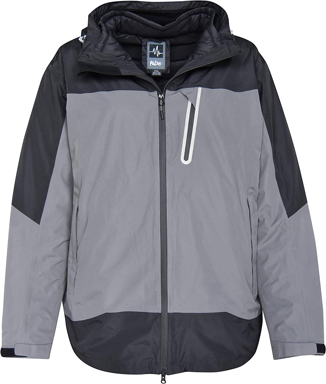 Pulse Mens Big Sizes Swiss Systems 3in1 Ski Jacket Coat