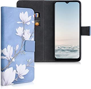 kwmobile Plånboksfodral kompatibel med Alcatel 3X (2020) – vikbart fodral i PU-läder med kortspår och stativ – magnolias b...