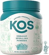 KOS Organic Spirulina Powder | Pure Non-Irradiated Blue-Green Spirulina Powder | USDA Organic Immunity Enhancing Plant Based Superfood, 381g, 109 Servings