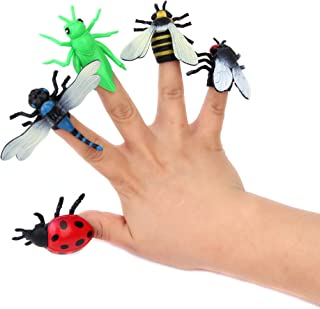Fun Central (AZ922) 12pcs Insect Finger Puppets - Assorted - Toys for Kids, Bug Toys, Finger Puppets for Toddlers, Insects and Bugs, Insect Theme Party, Party Favors, and Giveaways