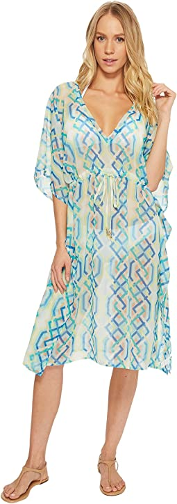 Cabana Lattice Double-V Cover-Up