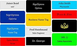 Business Name Tag / ID Badge Personalized with Magnet- Customized Laser Engraved 3
