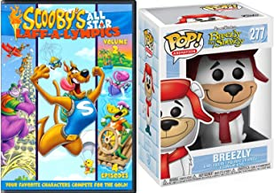 The Breezley Bear Laugh Olympics Scooby-Doo Cartoon DVD Pack All Star Team Laff-A-Lympics Compete for Gold Sports Episodes Hanna-Barbera Yogi Yahooeys & Really Rottens + Pop Collectible Funko Figure