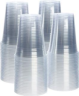 [100 عبوة - 473 مل] أكواب بلاستيكية شفافة من البولي إيثيلين تيرفثالات