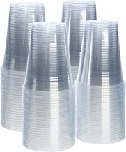 [100 Pack - 16 oz.] Crystal Clear PET Plastic Cups