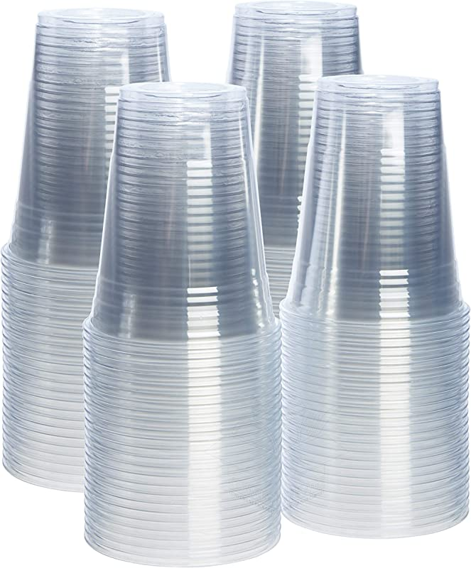 100 Pack 16 Oz Crystal Clear PET Plastic Cups