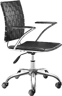 Zuo Modern Criss Cross Office Chair, Black