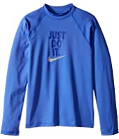 Nike Kids - Just Do It Long Sleeve Hydroguard Top (Big Kids)
