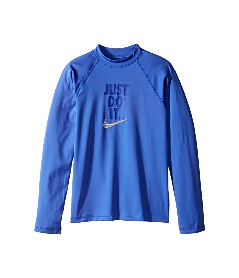 4a91ba3e Nike Kids Just Do It Long Sleeve Hydroguard Top (Big Kids) at 6pm
