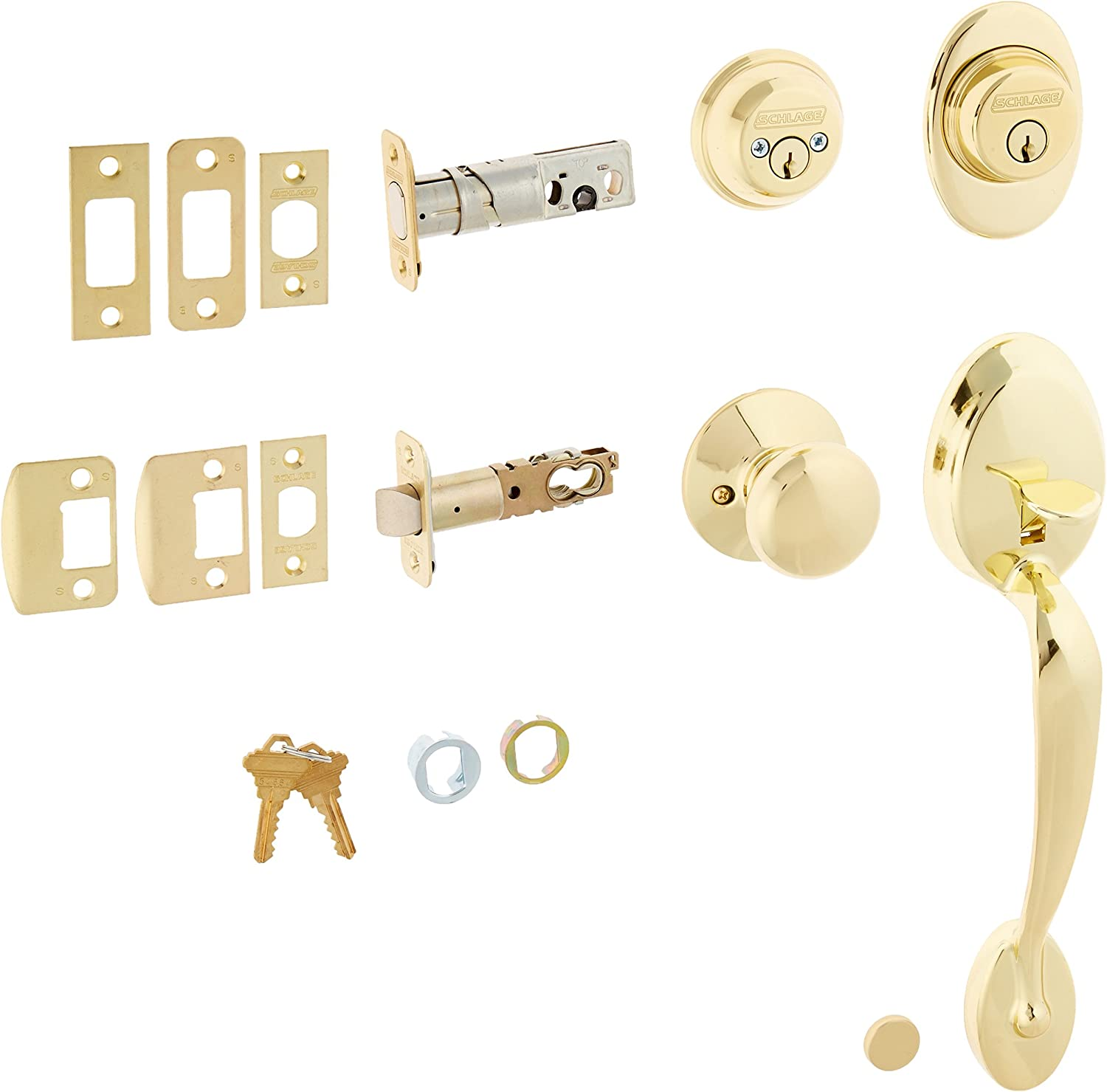 Ranking TOP5 Schlage F62-PLY-PLY Plymouth Double San Antonio Mall Handleset Cylinder Plym with