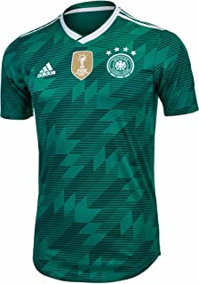 adidas Germany 2018-2019 Away Authentic Jersey- Teal Green