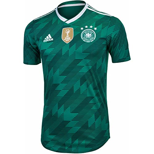 adidas Germany 2018-2019 Away Authentic Jersey- Teal Green 12b494563adb
