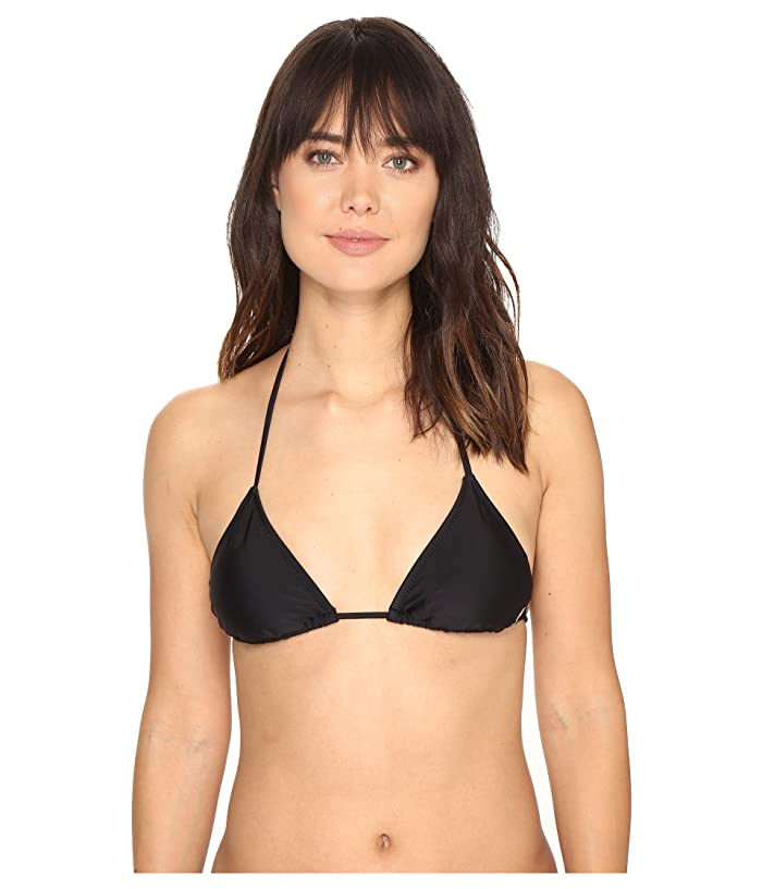 Volcom Simply Solid Triangle Top (Black) Women