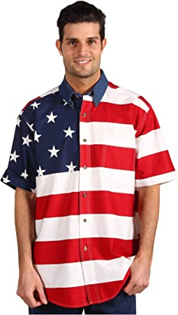 Roper Stars & Stripes Pieced Flag Shirt S/S