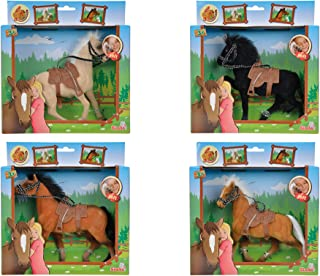 Simba Toys -Champion Beauty Horses with Saddles, Four Pack
