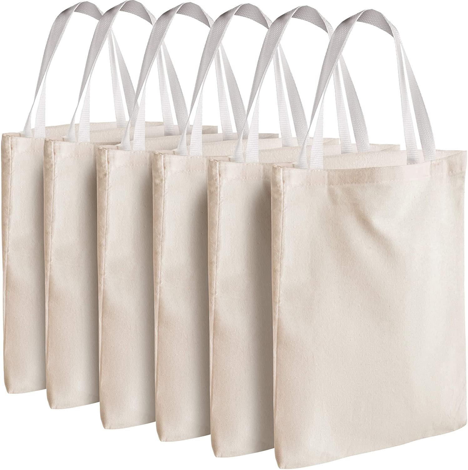 low-pricing Canvas Tote Bags - Bulk 12 Blank Fabric 12.75