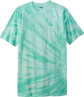 KingSize Men's Big & Tall Shrink-Less Lightweight Longer-Length Crewneck Pocket T-Shirt
