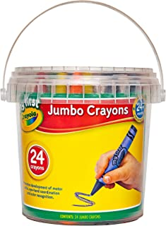 Crayola My First Jumbo Crayons, 24 pack with storage tub, 2 years +, Designed for little hands, Creative Play, Perfect for...