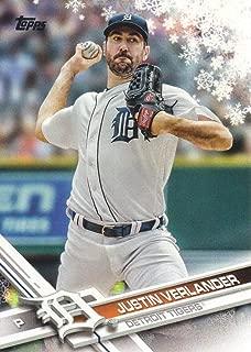 2017 Topps Walmart Holiday Snowflake Baseball #HMW40 Justin Verlander
