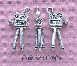 Pink Cat Charms 5 Abalorios de Plata tibetana y Esmalte Verde VW Beetle Camper Van 20 mm