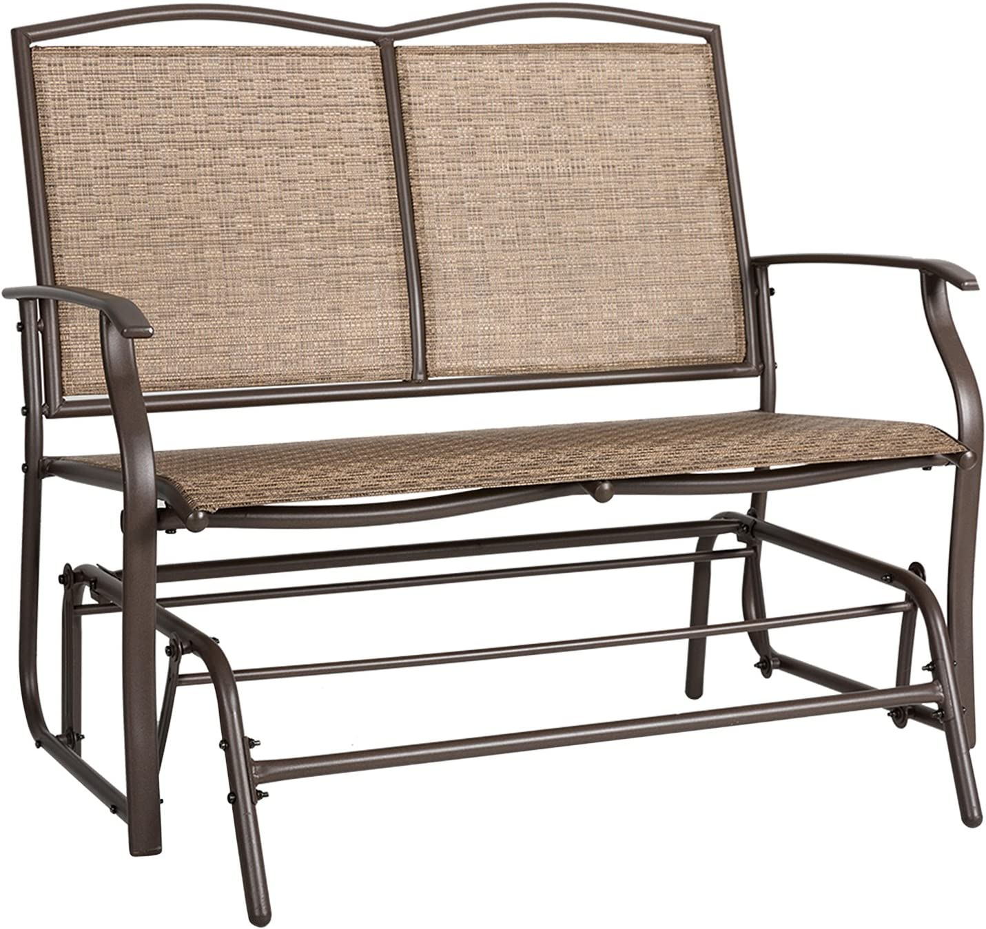 AbocoFur Patio Wicker Swing Glider Bench Bombing free shipping Sturdy Steel F Max 80% OFF Outdoor