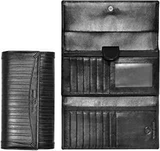 Real Leather Black Leather For Women - Bifold Wallets