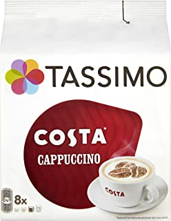 TASSIMO Costa Cappuccino 16 discs, 8 servings (Pack of 5, Total 80 discs, 40 servings)
