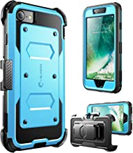 i-Blason Armorbox Series Designed for iPhone 7/Phone 8, Built in [Screen Protector] [Full body] [Heavy Duty Protection ] Shock Reduction / Bumper Case (Blue)