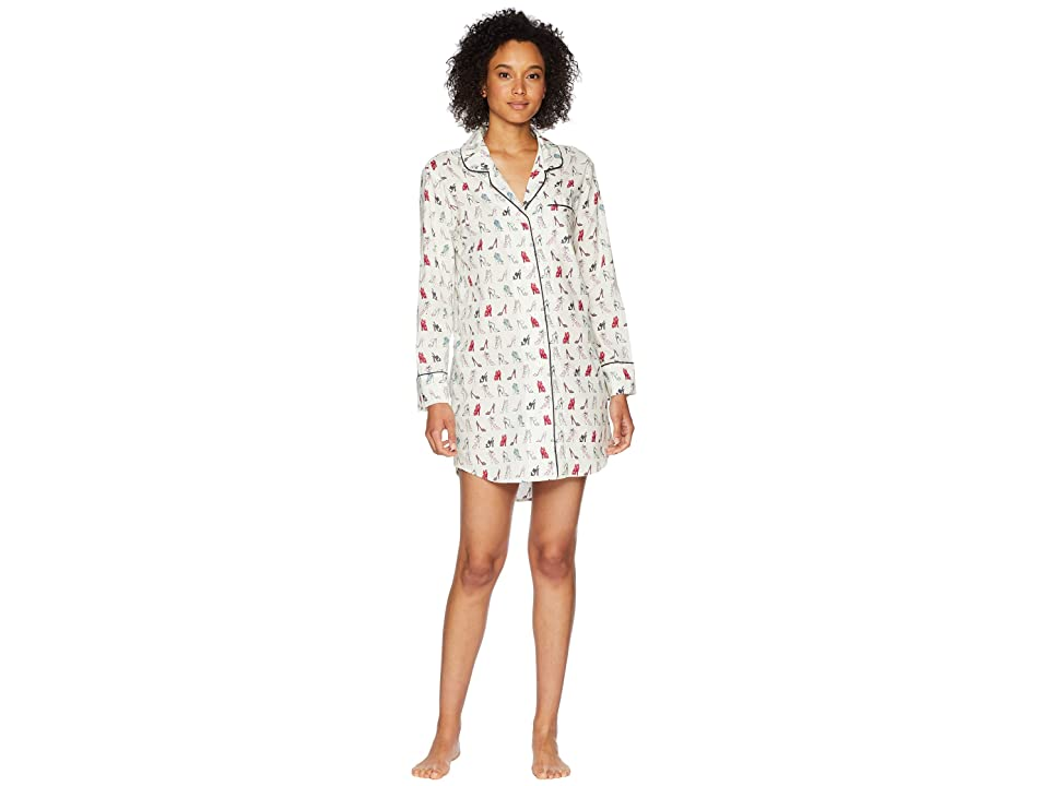 BedHead Long Sleeve Classic Nightshirt (If the Shoe Fits) Women