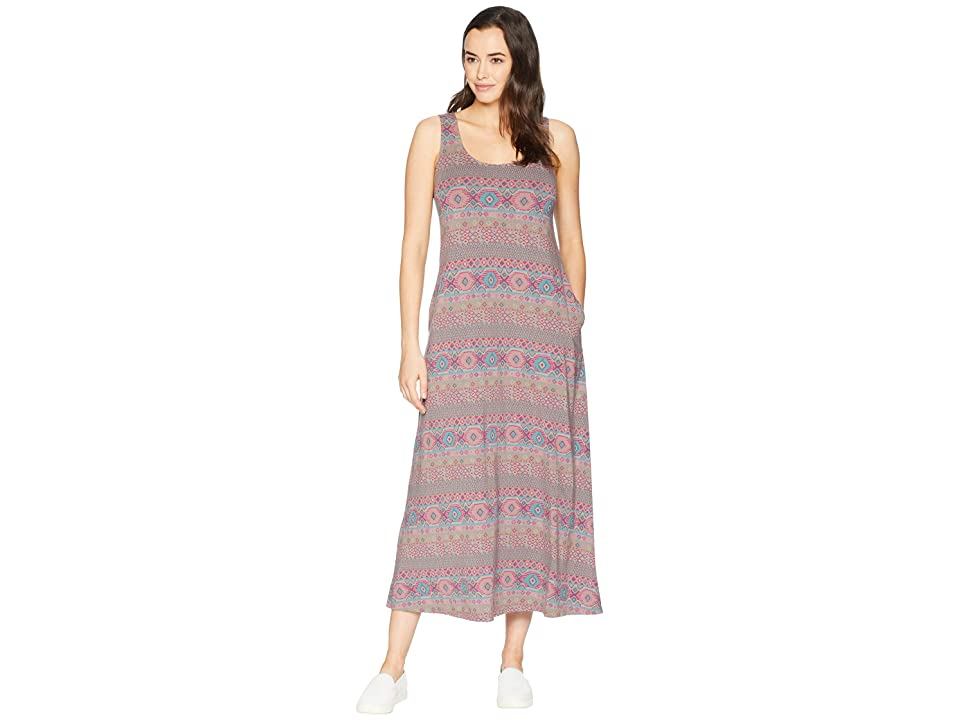 Fresh Produce Stamped Geo Maxi Dress (Portobello) Women