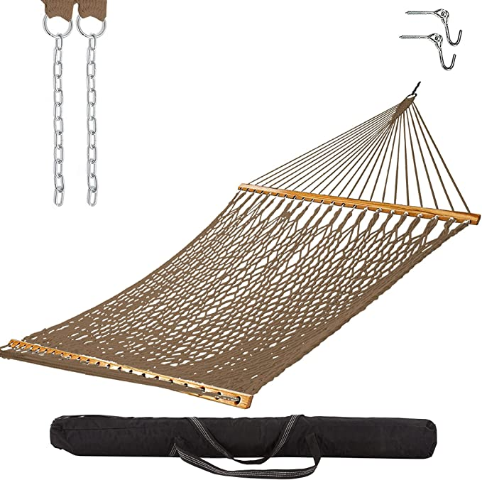 Castaway Living Double Traditional Hand-Woven Polyester Rope Hammock - Best Material