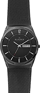 Men's Melbye Watch with Black Titanium Case and Stainless Steel Mesh