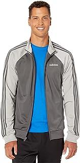adidas Men's Essentials 3-stripes Color Blocked Tricot Track Jacket