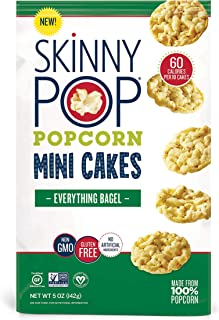 SkinnyPop Mini Popcorn Cakes, 4ct of oz Bags Everything Bagel, 5 Ounce