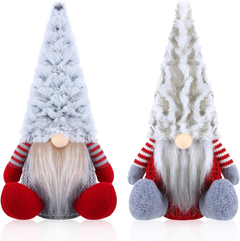 ASDPIHNK 2 Max 50% OFF Pieces Plush Super sale period limited Santa S Sitting Ornament Gnome Christmas