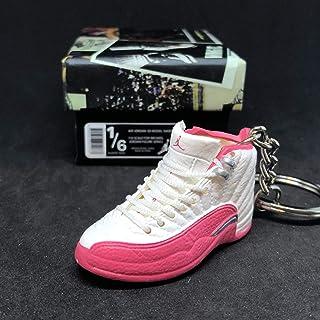 f5e25fdbb6a7 Air Jordan XII 12 Retro Valentine White Vivid Pink OG Sneakers Shoes 3D  Keychain 1