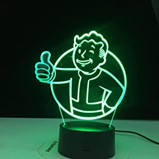 3D Night Lights Led Game Fallout Logo 3D Night Light For Kids Child Bedroom Decoration Cool Event Nightlight Colorful Usb ...