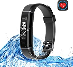 Basecamp Fitness Tracker HR, Smart Band Activity Tracker Watch with Heart Rate Monitor, Sleep Monitor, Steps Counter IP67 Waterproof Pedometer Watch for Women Men, Android&iOS