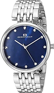 Oceanaut Women's Aerglo Japanese Quartz Stainless Steel Strap, Silver, 18 Casual Watch (Model: OC2201)