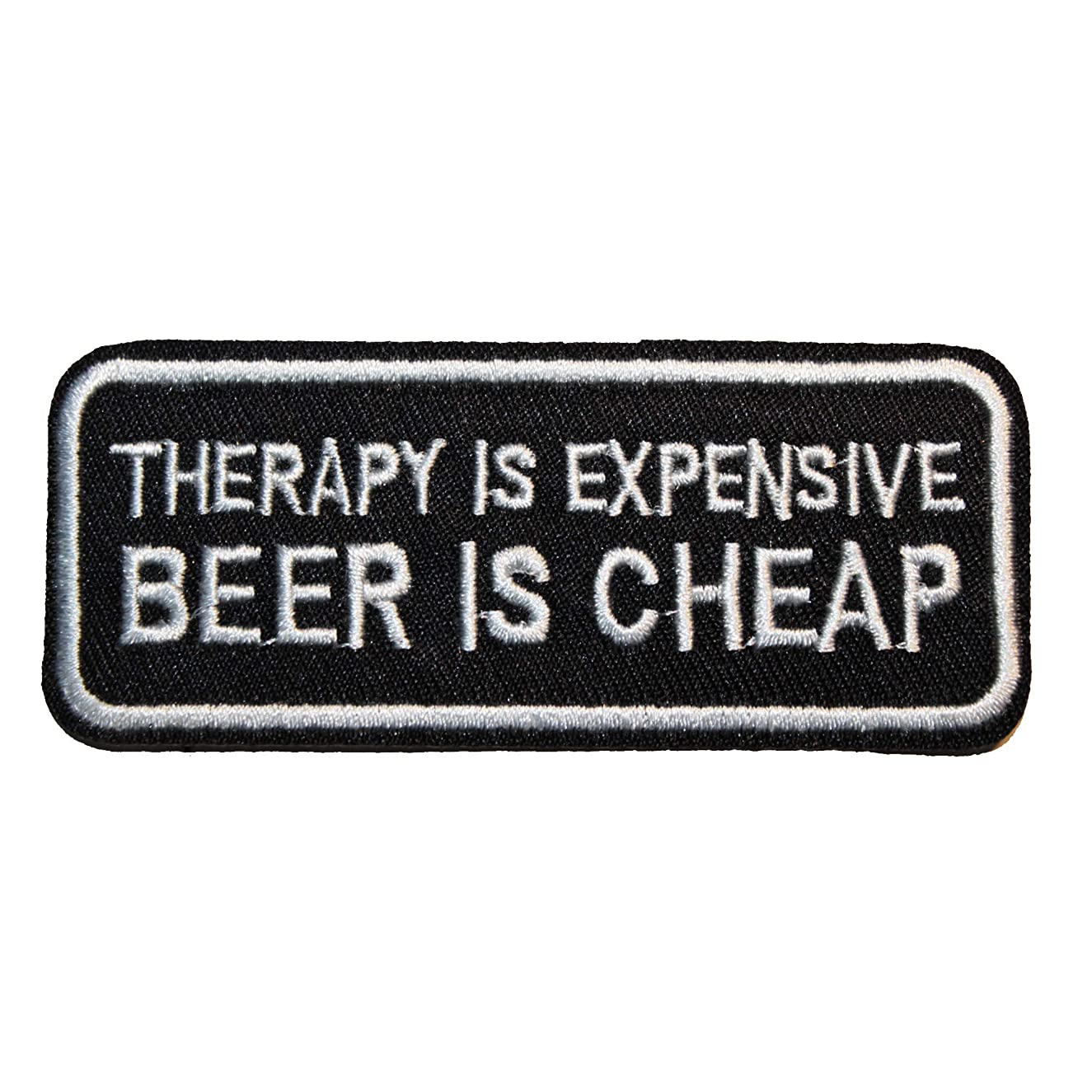 U-Sky Sew or Iron on Patches - Therapy is Expensive Beer is Cheap Patch