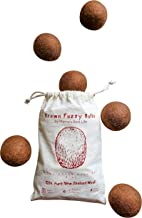 Mama´s Best Life Wool Dryer Balls Organic | XL 6-Pack | Great Gift | 100% New Zealand Wool | Reusable Natural Fabric Softener | Shortens Drying Time and Saves Money | Anti Static and No Wrinkles |