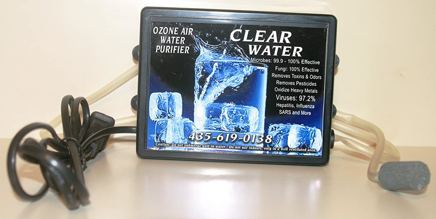 Clear Water Ozone Air, Water Purifier  Now With Improved Kinkless Hose