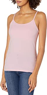 Hanes Women's Stretch Cotton Cami with Built-In Shelf Bra Cami Shirt (pack of 1)