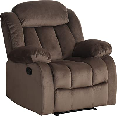 Sunset Trading Teddy Bear Recliner, Cocoa brown