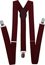 Navisima Adjustable Elastic Y Back Style Suspenders for Menand Women With Strong Metal Clips