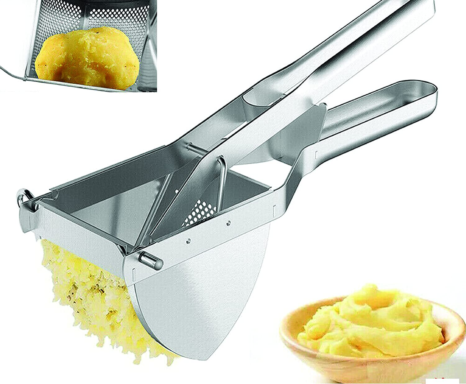 All items in the store Stainless Steel Potato Mash Ricer Fruit Vegetable Max 73% OFF Masher Crushin