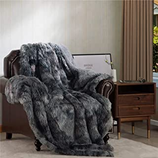 Bedsure Faux Fur Reversible Tie-dye Sherpa Twin Size Shaggy Blanket Throw for Sofa, Couch and Bed - Super Soft Fluffy Fuzz...